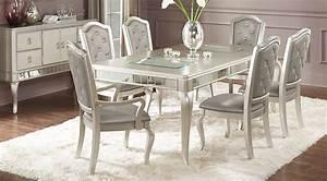 Sofia Vergara Paris Silver 5 Pc Dining Room - Dining Room