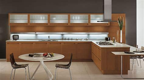 sleek  natural modern wooden kitchen designs home