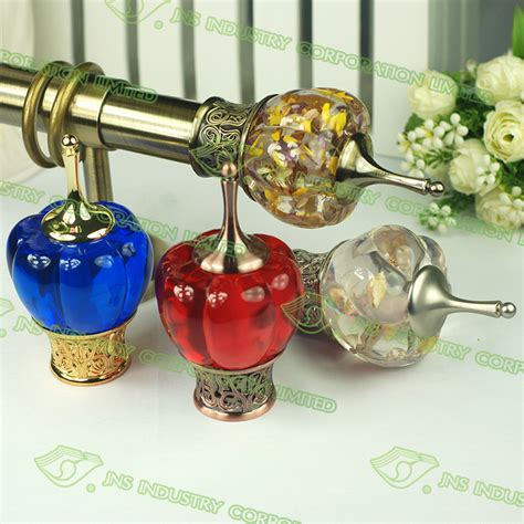 rod end cap glass finials for curtain rods