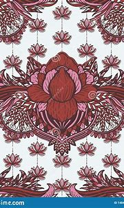 Art Seamless Pattern Lotus Flower Mandala. Ethnic Abstract ...