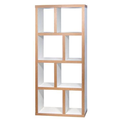 canapé nordique temahome etagère bibliothèque berlin 4 niveaux 70 cm blanc