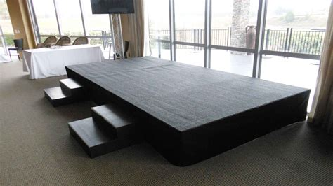 drum coffee table indoor stage hire stronglite staging