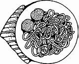 Meatballs sketch template