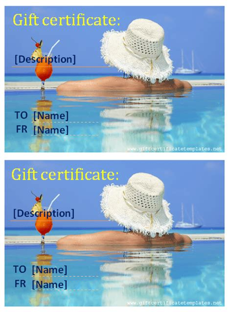 holiday templates gift certificate templates