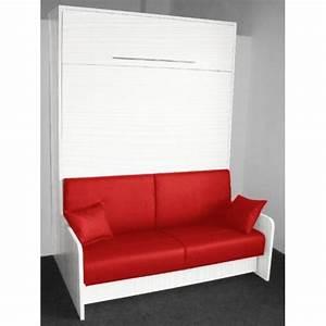 Leader bed armoire lit escamotable space sofa chene for Tapis rouge avec lit rabattable avec canapé intégré