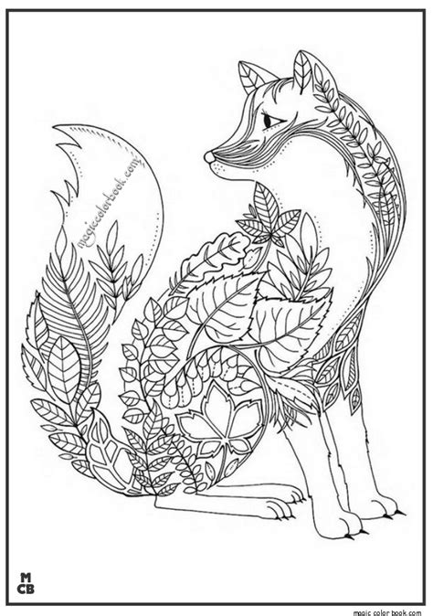 fox adults patterns coloring pages fox coloring page adult coloring book pages forest