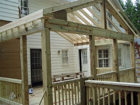 Build Back Porch by Building A Screened In Porch
