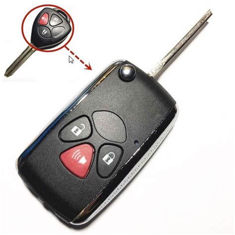 Buttons Replacement Flip Remote Car Key Fob Case For