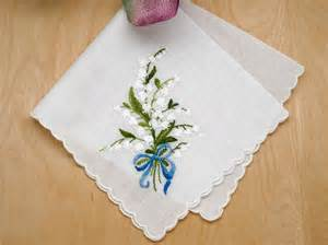 wedding memorial ideas swiss of the valley something blue bridal handkerchief