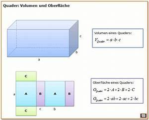 Prisma Berechnen übungen : quader volumen und quader oberfl che mit formel mathe ~ Themetempest.com Abrechnung