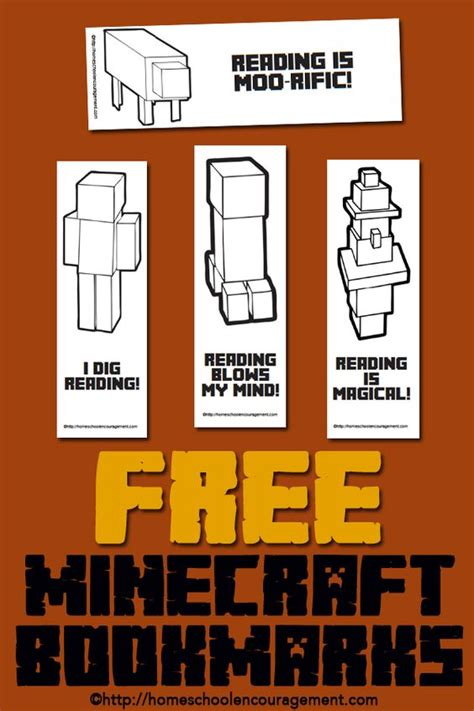 Minecraft Bookmark Template by Free Minecraft Printables For Reading Bookmarks Reading