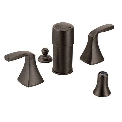 moen voss 2 handle bidet faucet trim kit in oil rubbed