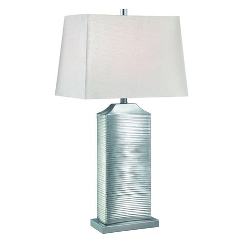 Chrome Bedroom Table Ls by Lite Source Adora Chrome Table L With Rectangle Shade