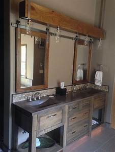 36 best farmhouse bathroom design and decor ideas for 2017 With barn style mirrors