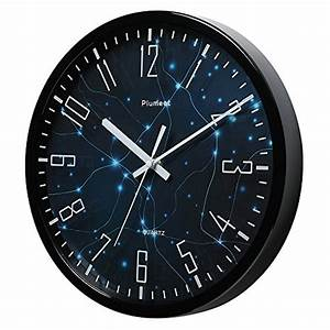 """Plumeet 12"""" Silent Wall Clock with Special Design and Non ..."""