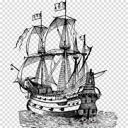 Ship Columbus Clipart Galleon Sailing Boat Carrack