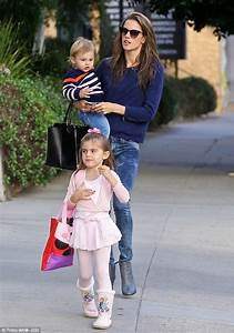 Alessandra Ambrosio leaves home with wet hair on outing ...