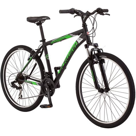 black cycling 26 in schwinn sidewinder mens mountain bike matte black