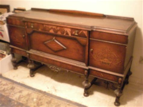 Antique Sideboard Buffet Server From Rockford National