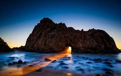 Sur Beach California Rock Pfeiffer Usa Ocean