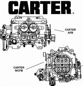 Carter Afb And Wcfb Carburetors - Diagram View