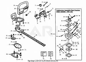Poulan Pht19 Gas Hedgetrimmer Parts Diagram For Handle