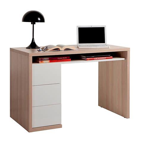 alinea bureaux bureau bicolore avec 3 tiroirs moneta bureaux adultes