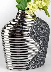 Große Vase Silber : vase stone silber keramik 25 cm g nstig bei dekodor ~ Buech-reservation.com Haus und Dekorationen