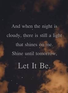 Beatles Quotes Let It Be. QuotesGram