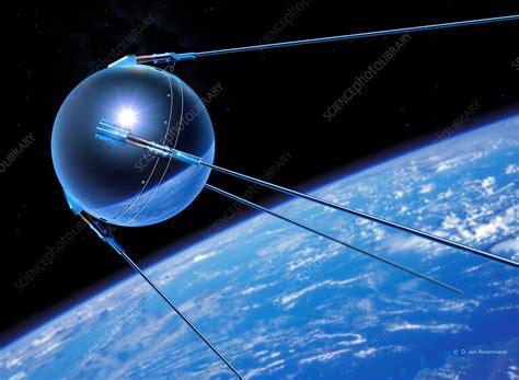 Sputnik 1 satellite - Stock Image - S770/0009 - Science Photo Library