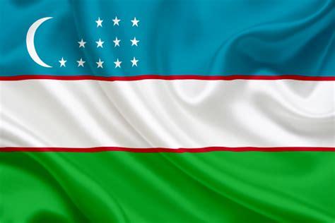 national flag of uzbekistan uzbekistan
