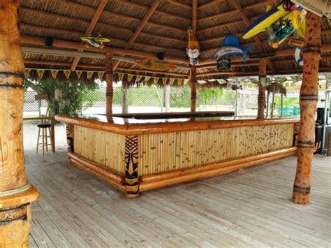 Huge Tiki Hut With Tiki Bar
