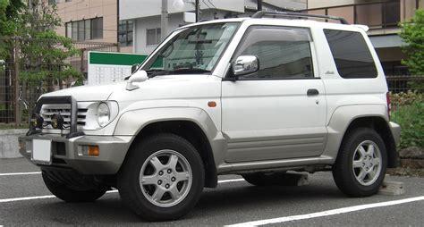 small jeep white mitsubishi pajero junior wikipedia
