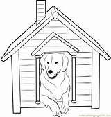 Coloring Dog Inside Pages Doghouse Pdf Template Coloringpages101 Sketch sketch template
