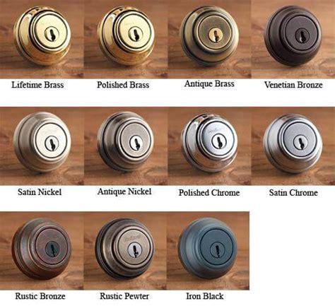 common door hardware finishes