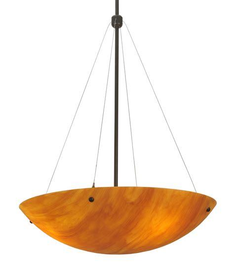 inverted bowl pendant light meyda 117684 cypola 24 quot new mica inverted bowl pendant