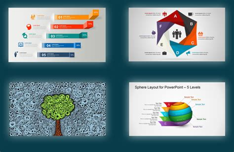 powerpoint templates diagrams  editable shapes