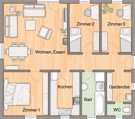 Bungalow Grundrisse 4 Zimmer by Bungalow 92