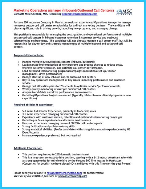 Sle Of Call Center Resume Objective by 100 Sle Objectives In Resume For Call Center Exles Of Resumes Resume Objective Hotel