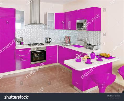 magenta kitchen accessories modern kitchen interior magenta decoration stock photo 3928