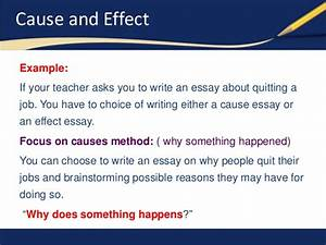 how to write a cause essay