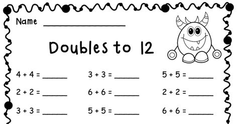 adding doubles   freebie  images addition