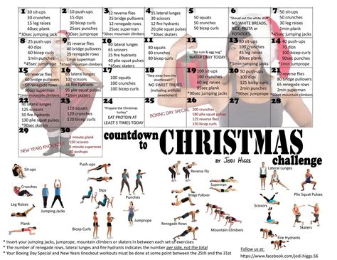 countdown  christmas  images  day workout