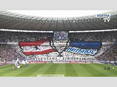 Hertha Berlin's excellent tifo before the Borussia
