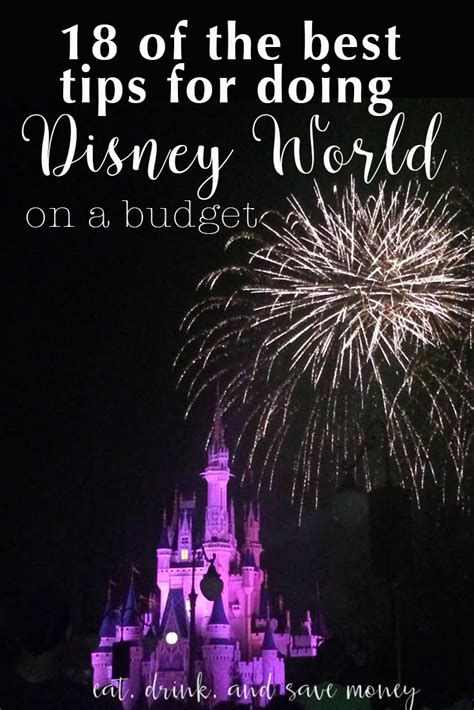 18 Best Speedy Tips Images 18 Of The Best Tips For Doing Disney On A Budget