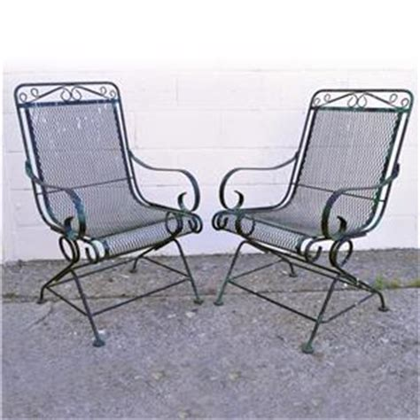 vintage meadowcraft wrought iron patio furniture vintage pair wrought iron outdoor patio bouncer lounge