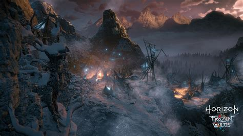 horizon wilds ps4 dawn frozen zero cold warm steel heart gameplay guerilla sony games via