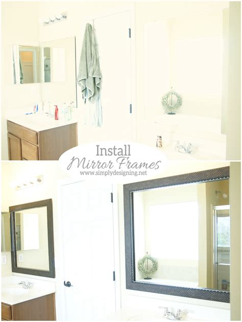 install  bathroom mirror frame  video
