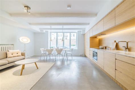 bright scandinavian style studio apartment