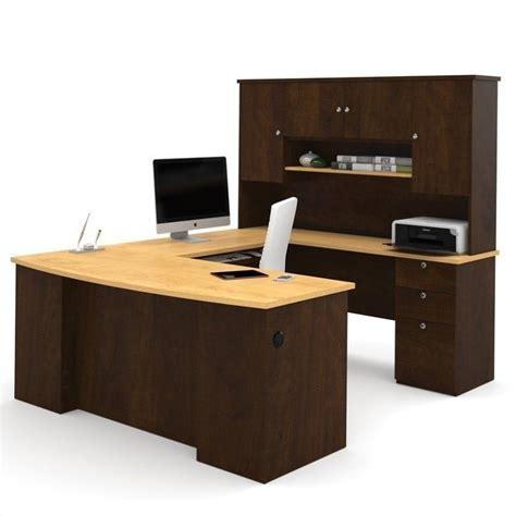 u shaped computer desk bestar manhattan u shaped computer desk in secret maple